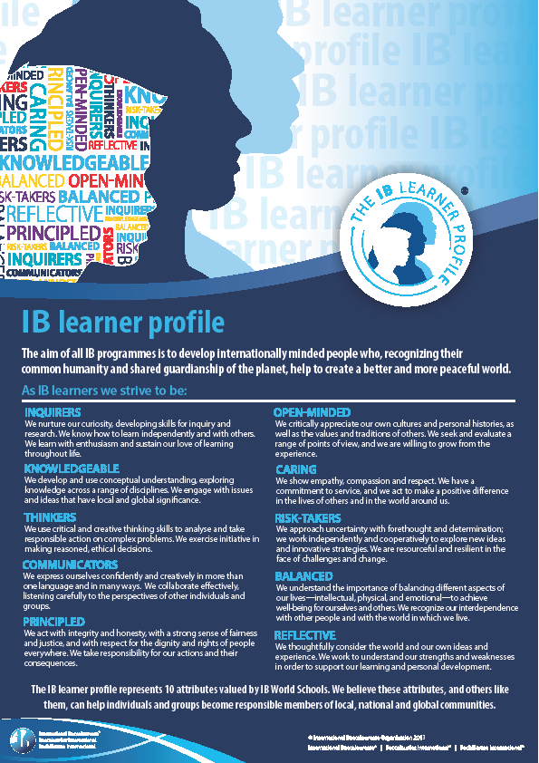 IB Learner Profile Definitions