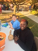 Beta Club Members at Community Trunk or Treat