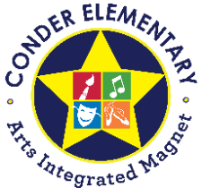L. W. Conder Elementary Arts Integrated Magnet Logo