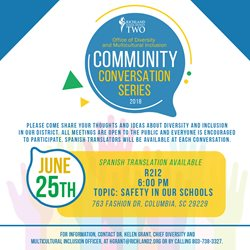 Community Conversation on June 25. Click here for an accessible PDF.